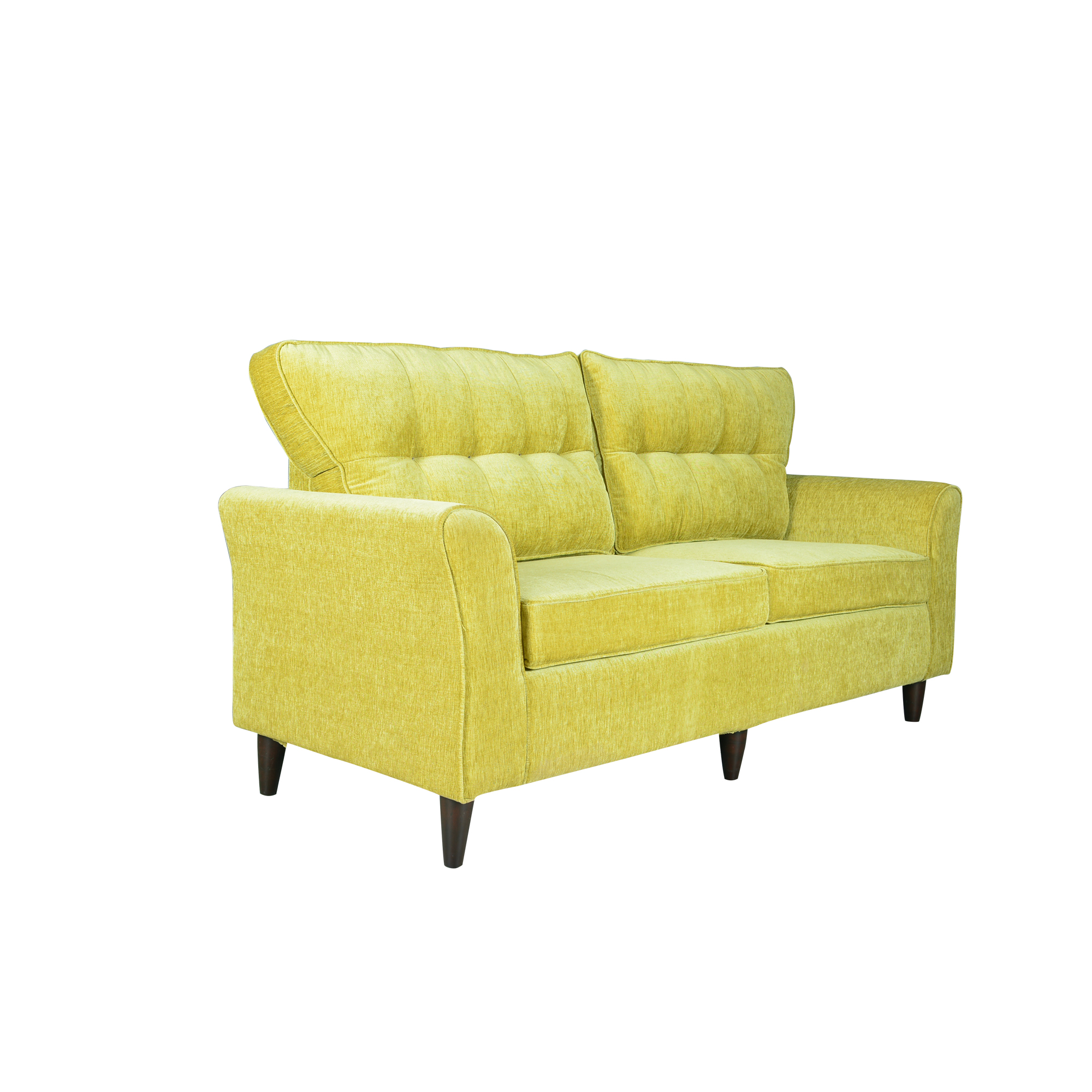 Bellevue Upholstered Sofa In Fabric And Teakwood Finesse Interio